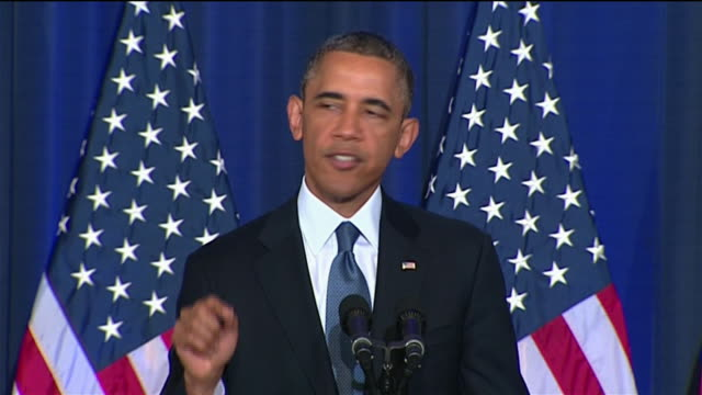 president barack obama talks about how the nature of terrorism and the type of threat that it poses has changed since the september 11 attacks. from... - war or terrorism or military点の映像素材/bロール