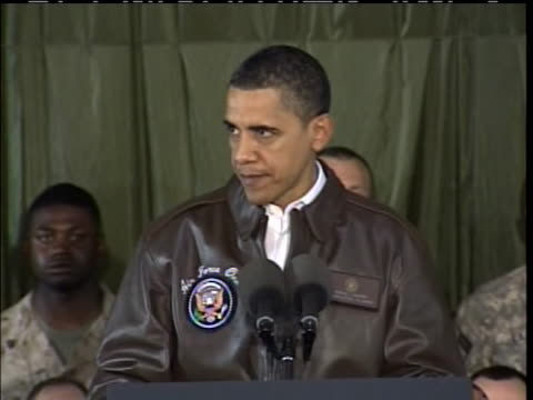 president barack obama tells troops in aghanistan that their mission is to completely destroy al-qaeda. - (war or terrorism or election or government or illness or news event or speech or politics or politician or conflict or military or extreme weather or business or economy) and not usa stock videos & royalty-free footage