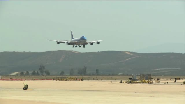 president barack obama visited california for a series of fund raisers - air force one stock videos & royalty-free footage