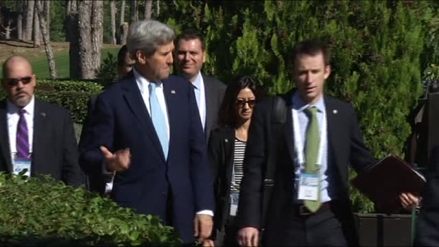 president barack obama walks with national security advisor susan rice to attend the g20 turkey leaders summit after a bilateral meeting with turkish... - g20 leaders' summit stock videos & royalty-free footage