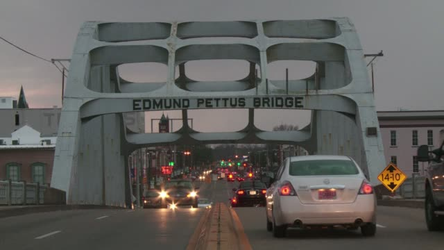 president barack obama will call for a new generation of americans to take up the torch kindled by civil rights leaders 50 years ago in selma alabama... - selma alabama stock videos & royalty-free footage