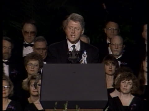 president bill clinton delivers a somber message following the oklahoma city bombing. - oklahoma city bombing stock videos & royalty-free footage