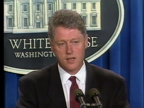 president bill clinton describes the oklahoma city bombing as an act of cowardice and evil. - oklahoma city bombing stock videos & royalty-free footage