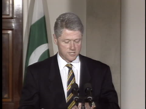 president bill clinton gives a speech about the relationship between the united states and pakistan. - united states and (politics or government) stock videos & royalty-free footage