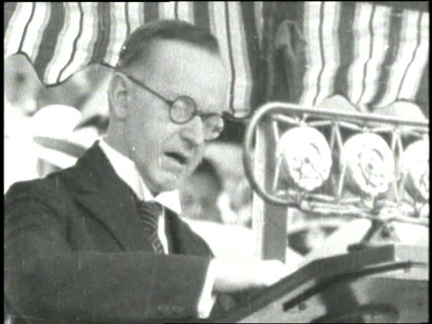 us president calvin coolidge makes a speech following his election - coolidge calvin stock videos & royalty-free footage