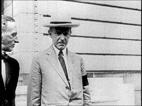 president calvin coolidge stands and talks with another man - coolidge calvin stock videos & royalty-free footage