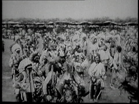 president calvin coolidge watching sioux tribal dancing / united states - 1927 stock videos & royalty-free footage