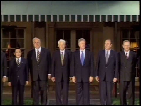 president clinton greets his fellow world leaders at the g8 summit in denver. - colorado stock videos & royalty-free footage