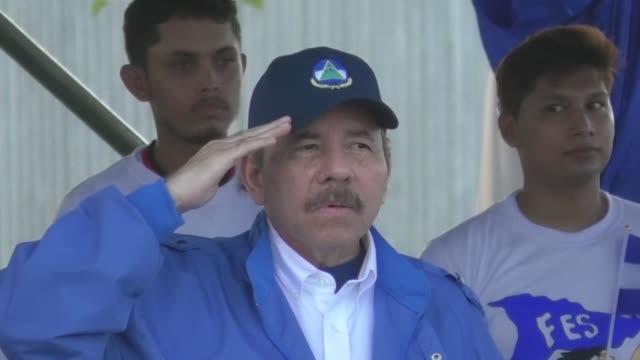 president daniel ortega celebrates independence day in nicaragua's capital managua - managua stock videos & royalty-free footage