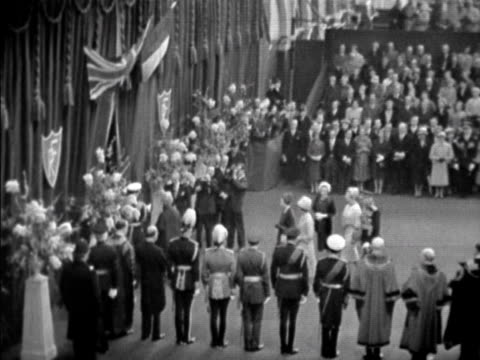 president de gaulle and the royal party leave victoria station at the start of de gaulle's state visit to britain 05 april 1960 - state visit stock videos & royalty-free footage