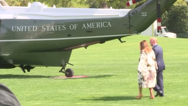 us president donald trump and first lady melania trump leave washington dc from the white house south lawn for maralago florida - lago stock videos & royalty-free footage