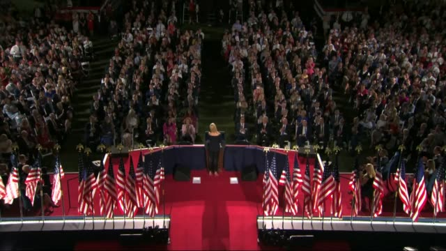 stockvideo's en b-roll-footage met president donald trump eldest daughter and senior adviser ivanka trump says in live broadcast remarks to the republican national convention on the... - quarter