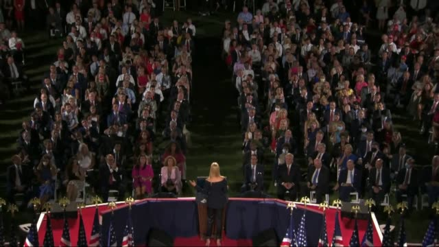 president donald trump eldest daughter and senior adviser ivanka trump says in live broadcast remarks to the republican national convention on the... - live broadcast stock videos & royalty-free footage