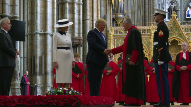 us president donald trump first lady melania trump as photographers take photos westminster abbey on june 3 2019 in london england - donald trump us president stock videos and b-roll footage