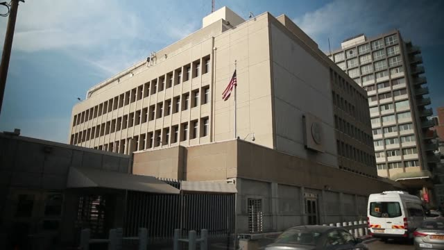 president donald trump has decided not to move the us embassy in israel to jerusalem for now a us official said thursday shying away from a major... - embassy stock videos and b-roll footage