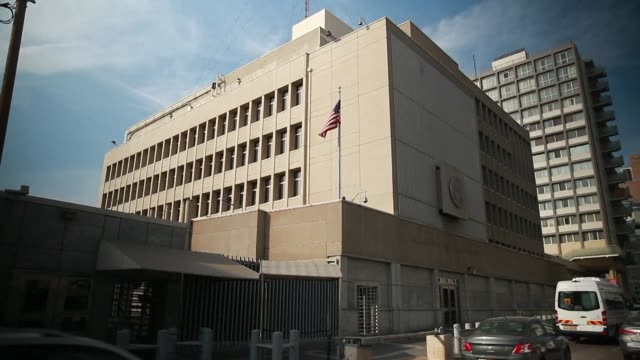 vídeos de stock, filmes e b-roll de us president donald trump is thinking seriously about moving his country's embassy in israel to jerusalem he told a paper friday adding no decision... - moving activity