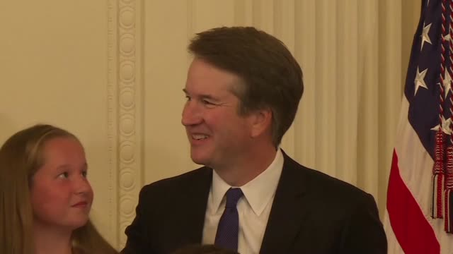 president donald trump monday nominated conservative judge brett kavanaugh to the us supreme court a decision set to tilt the top judicial body... - brett kavanaugh stock videos and b-roll footage