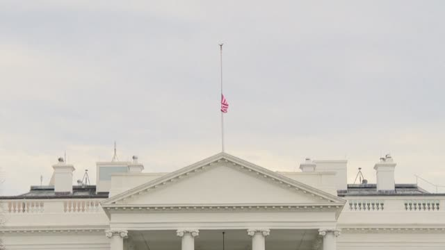 US President Donald Trump orders flags at US embassies government buildings and military installations to be flown at half staff after 17 people were...