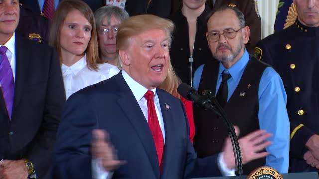 president donald trump remarks on his brother fred and his struggle with alcohol addiction during a press conference in washington dc - rubbing alcohol stock videos & royalty-free footage