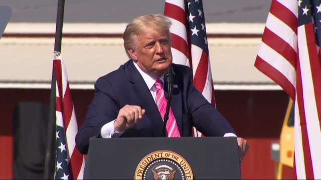 president donald trump says at an outdoor campaign rally at the robeson county fairgrounds that power was being returned to the american people which... - south carolina stock videos & royalty-free footage