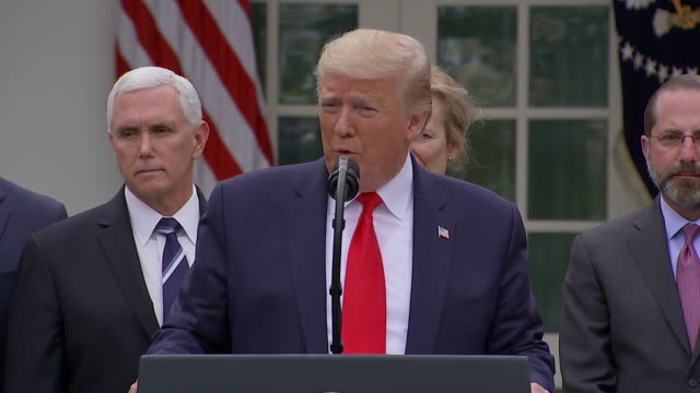 """president donald trump says he has """"no symptoms"""" in response to a question about his meeting with brazilian president jair bolsonaro. - press room stock videos & royalty-free footage"""