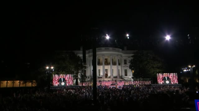 president donald trump says in live broadcast remarks to the republican national convention on the white house south lawn before an audience in... - live broadcast stock videos & royalty-free footage