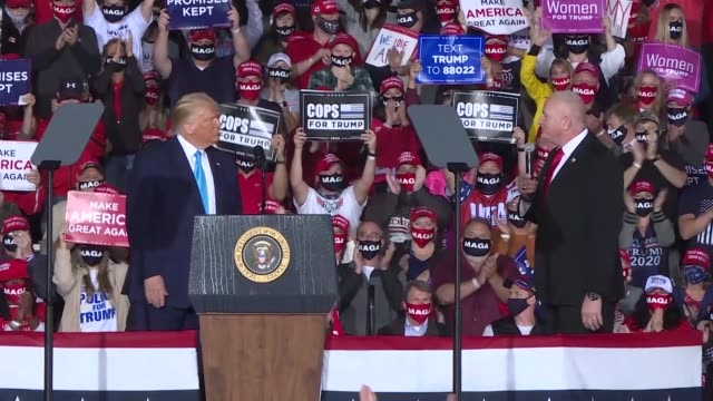 president donald trump speaks at a rally at harrisburg international airport on september 26 2020 in middletown pennsylvania - donald trump us president stock videos & royalty-free footage