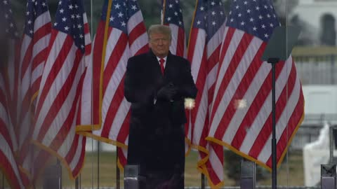 """president donald trump speaks at the """"stop the steal"""" rally on january 06, 2021 in washington, dc. trump supporters gathered in the nation's capital... - donald trump us president stock videos & royalty-free footage"""