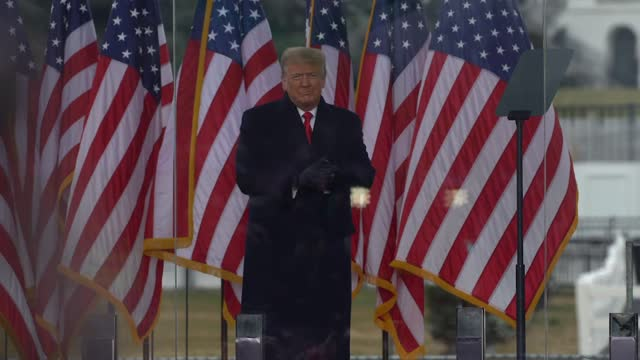 """president donald trump speaks at the """"stop the steal"""" rally on january 06, 2021 in washington, dc. trump supporters gathered in the nation's capital... - political rally stock videos & royalty-free footage"""