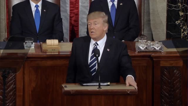 President Donald Trump tells a Joint Session of Congress America is willing to make new friends and new partnerships that the country wants stability...