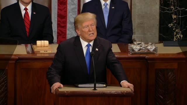 President Donald Trump tells a Joint Session of Congress during his first State of the Union address that there is a new American moment no better...