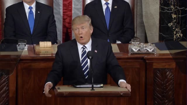 president donald trump tells a joint session of congress that 94 million americans are out of work that 43 million people are living in poverty and... - food stamps stock videos & royalty-free footage
