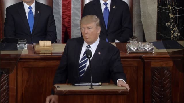 President Donald Trump tells a Joint Session of Congress that 94 million Americans are out of work that 43 million people are living in poverty and...