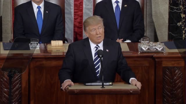 President Donald Trump tells a Joint Session of Congress that at the end of Black History Month the nation is reminded of the fight for civil rights...
