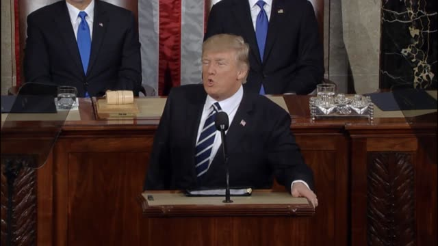 President Donald Trump tells a Joint Session of Congress that he hopes the 250th year of America will see a more peaceful world Trump outlines his...