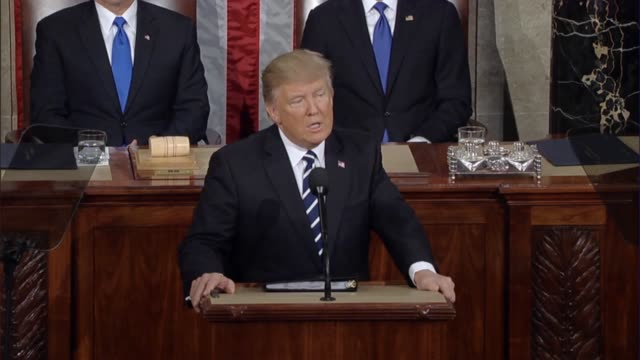 President Donald Trump tells a Joint Session of Congress that he will not allow past mistakes to define the course of the country's future and that...