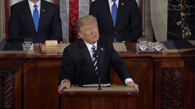 president donald trump tells a joint session of congress that the time for small thinking is over that all salute the same flag bleed the same blood... - joint session of congress stock videos and b-roll footage