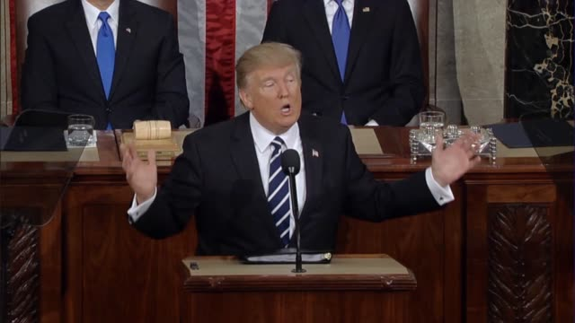 President Donald Trump tells a Joint Session of Congress that the United States supports NATO but allies must meet financial obligations and that...