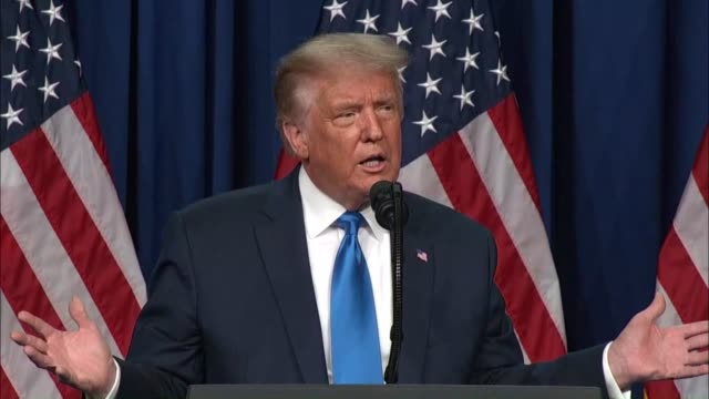 president donald trump tells delegates at the republican national convention after being nominated for reelection that he wants to thank everybody... - charlotte stock-videos und b-roll-filmmaterial