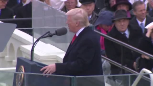 ktla president donald trump's inaugural address what truly matters is not which party controls our government but whether our government is... - amtseinführung stock-videos und b-roll-filmmaterial