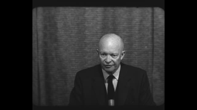 president dwight eisenhower in key west to continue recovering from a recent heart attack speaks at informal press conference about letting the press... - question mark stock videos & royalty-free footage