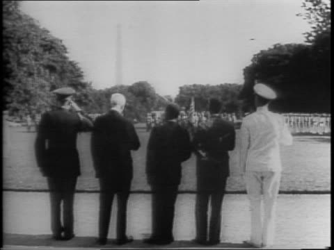vídeos y material grabado en eventos de stock de president edwin barclay and presidentelect william tubman are guests of president franklin roosevelt's at white house / barclay and tubman arrive by... - liberia