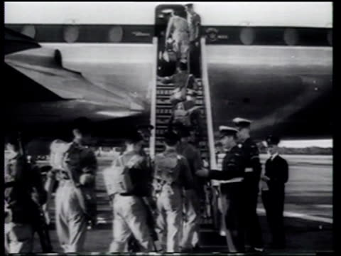 us president eisenhower addresses the situation in egypt as great britain and france prepare to confront egyptian president gamal nasser in the suez... - president of egypt stock videos & royalty-free footage