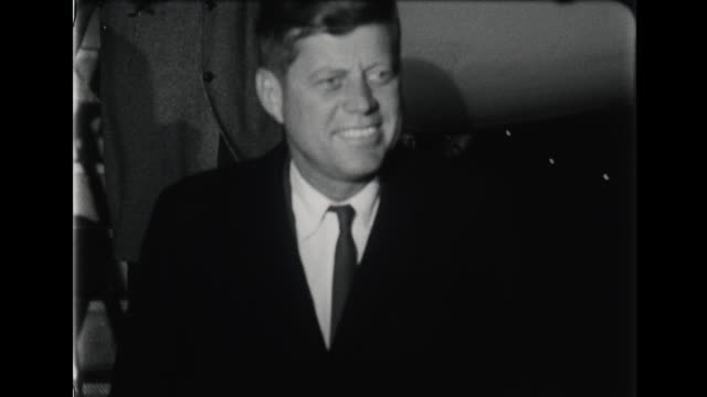 president eisenhower and john f kennedy deplane at airport - air force one stock videos & royalty-free footage