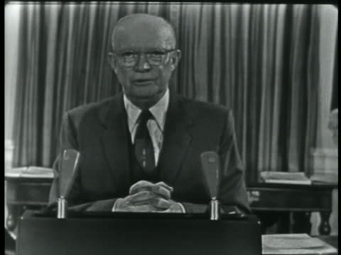 "vidéos et rushes de president eisenhower makes a farewell television address to the nation at the end of his presidency, saying, "" in the councils of government, we must... - united states and (politics or government)"