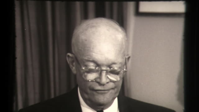 president eisenhower on open skies policy and dealing with khrushchev, soviet aggression - us president stock videos & royalty-free footage