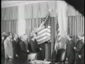 President eisenhower reveals the american flag with fortynine stars video id661505963?s=170x170