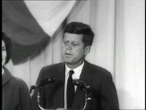 president elect john f. kennedy gives his acceptance speech after the u.s. presidential election. - john f. kennedy us president stock videos & royalty-free footage