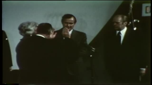 President Ford introduces Justice Potter Stewart to perform the oath of office