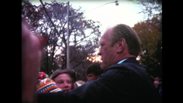 1976 president ford visits college campus - president stock videos & royalty-free footage